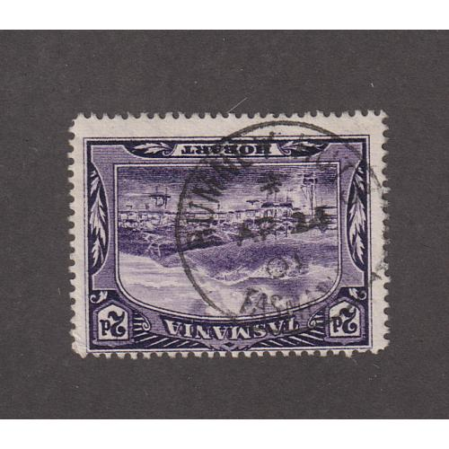 (JB1518) TASMANIA · 1901: a very useful example of the RUMNEY HUTS Type 1b cds on a 2d Pictorial · postmark is rated RR-(10*)