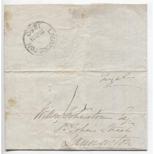 (JFC470) TASMANIA · 1852: small folded letter addressed to Launceston rated '4'(d) and with postmaster's endorsement 'Fingal' - Launceston arrival b/s - overall condition is excellent