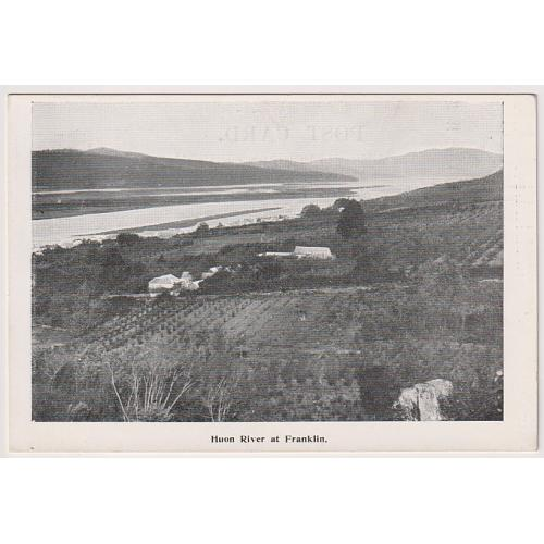(QQ1495) TASMANIA · c.1910: unused McVilly & Little Series card w/view HUON RIVER AT FRANKLIN in F to VF condition - BUY OUT price on bidding page
