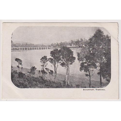 (WS1107) TASMANIA  · c.1904: unused undivided back card with a view of DEVONPORT · some edge wear at UR o/wise condition is clean and excellent, front and back.